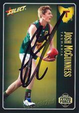 ✺Signed✺ 2014 BRISBANE LIONS AFL Card JOSH MCGUINNESS Future Force