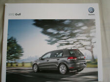 VW Golf range brochure 2012 USA market