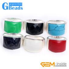 16x19mm Beads Tibetan Silver Base Ring 6 Materials Gemstone Gift Free Shipping