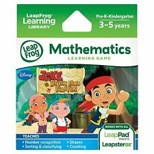 Disney LeapFrog Jake and the Never Land Pirates Mathematics Learning Game,NEW