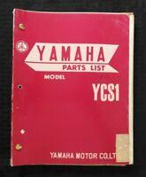 """1968 1969 YAMAHA """"180cc MODEL YCS1 YCS1-C"""" MOTORCYCLE PARTS CATALOG MANUAL NICE"""