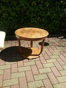Vintage Round Coffee Table with Walnut Veneer top