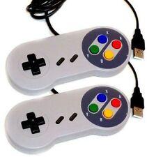 2 × SNES USB Controller For PC/Mac Super Nintendo Games Retro Classic F