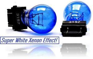 2x 3157 P27/7W 180 Super White Wedge DRL brake & tail indicator lights Bulbs