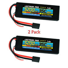 Lectron Pro 2S 7.4V 5200mAh 35C LiPo Battery w/ Traxxas Connector (2pcs)