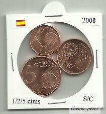 // 1 + 2 + 5 centimos euro España 2008 SC . euro cents spain \