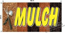 2' x 4'  VINYL BANNER MULCH FOR GARDEN NURSERY FLOWER SHOP!