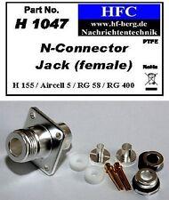1 Stück N-Flansch-Buchse für H 155 / Aircell 5 / RG 58 Koaxkabel 50 Ω (H1047)