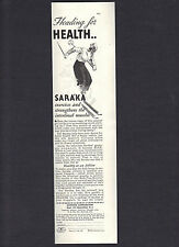 1936 Saraka Ad,Exercises & Strengthens Intestinal Muscles,Heading For Health,B&W
