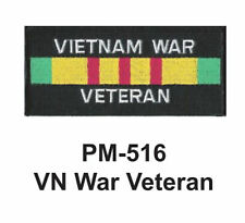 """3""""  VN WAR VETERAN Embroidered Military Patch"""