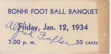 1934 BONHAM TEXAS Alfred Fuller BONHI HIGH SCHOOL FOOTBALL BANQUET TICKET