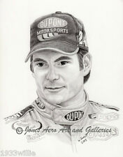 NASCAR Driver Jeff Gordon Giclee & Iris art prints by artist Willie Jones Jr.