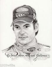 NASCAR Driver Jeff Gordon Giclee & Iris art prints by artist Willie Jones Jr.