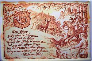 Beruf Jäger Blechschild Metallschild Schild gewölbt Metal Tin Sign 20 x 30 cm