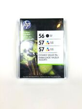 HP 56 57 57 Combo Black & Color Combo Ink Cartridges NEW GENUINE