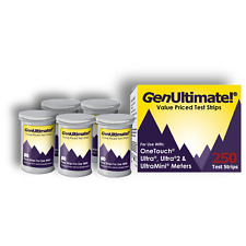 GenUltimate! 250 Test Strips for OneTouch Ultra, Ultra2, & UltraMini Meters