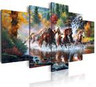 cuadros decorativos de pared caballos modernos para sala cuarto hogar 5 Paneles