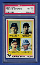 1978 Topps Paul Molitor / Alan Trammell Hall of Fame Rookie PSA 8 NM-MT