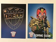 PROMO CARDS: 2000AD JUDGE DREDD 2007 by Strictly Ink 2 DIFFERENT PR1 & B1