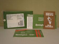 REMINGTON Model 700 SS Bolt Action Rifle Instruction Book