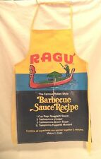 Vintage RAGU Spaghetti Bar-B-Que Sauce APRON Vinyl Gondola Recipe Cooking Grill
