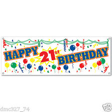"21st Birthday Party Decoration Happy 21st Birthday SIGN BANNER 60"" x 21"""