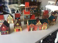 Vtg Peter Piper'S Playtown Village Cardboard Houses 1937
