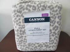 Cannon Fleece Sheet Set Full Size Gray/Beige Animal Print Original Package