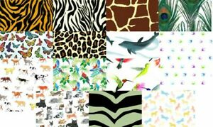 "Animal  Printed Tissue Paper 20"" x 30"" 500 x 750mm 18gsm"