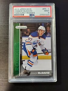 CONNOR MCDAVID PSA 9 MINT 2015-16 PARKHURST ROOKIES RC #PR-1 GREEN