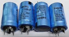 4 x Philips  3300uf 63v radial capacitor 2222-051-58332