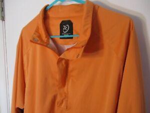 Classic Large Orange ZERORESTRICTION Tour Series Golf Windbreaker/Rain Jacket