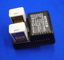 2 of 9v Rechargeable NiMh 250mAh+9v (2 slots)For Electronic/Meter/Medical/Toy...