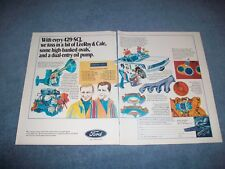 1970 Ford 429SCJ Engine Vintage 2pg Color Ad Super Cobra Jet