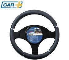CAR+ Car steering wheel glove cover black chrome QUALITY SPEED GRIP sleeve van