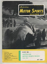 Australian Motor Sports 1959 Sep Lowood Geelong Morris Mini Gobron Brillie Park