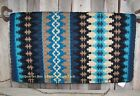Nova Show Blanket - 38x34 Insign Base/Black, Blue and Sand Accents by Mayatex
