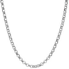Collar cadena pulsera Belcher Rolo Ancla Cable plata de ley 925 2mm Italiano