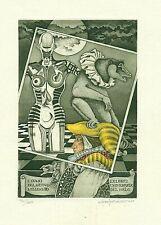 Exlibris Etching  Bookmark: Rovegno