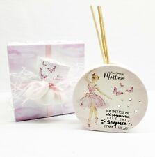 Bomboniera comunione cresima ballerina farfalla profumatore  personalizzato