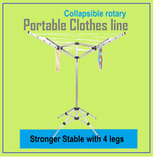Stronger Stable Portable Clothes Line Fold Up Collapsible Rotary Free Carry Bag