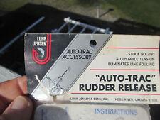 """Vintage LUHR JENSEN Trolling DownRigger Adjustable """"AUTO-TRAC"""" RUDDER RELEASE"""