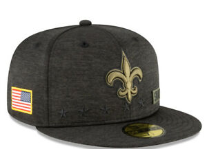 New Orleans Saints New Era NFL Salute to Service 59FIFTY Fitted Hat 7 3/4