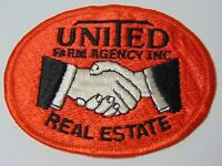"""3"""" Old Vintage 1970s UNITED FARM AGENCY REAL ESTATE FARM HAT ADVERTISING PATCH"""