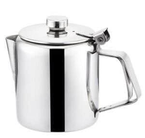 Boxed Teapot Coffee Pot 32oz 4 Cup Mirror Stainless Steel 1.0 Litre