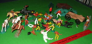 BIG LOT OF TIMPO, TRANSOGRAM, BRITIANS SWOPPETT FIGURES AND PARTS.........