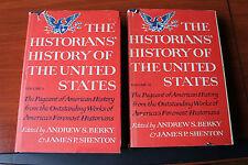 2 Vols die Historiker die Geschichte der Vereinigten Staaten von Berky/shenton 1966 hcdc