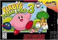 Kirby's Dream Land 3 (Super Nintendo Entertainment System, 1997) VG - CART ONLY