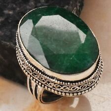 Emerald Ethnic Jewelry Handmade Antique Design Ring US Size-8 AR 12951