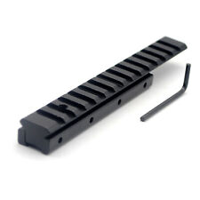 Extension Dovetail Rail 11 to 20 mm Picatinny Flat Top Riser Adapter Scope Mount